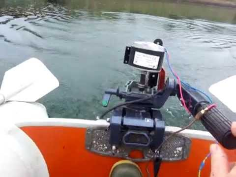 Diy electric outboard motor test