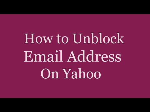 How to Unblock Email Address On Yahoo Mail |  How to Unblock Someone on Yahoo Mail