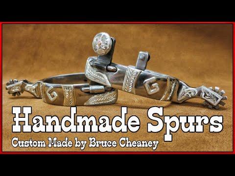 Handmade Spurs - Metal Working - Silver and Steel - spur maker