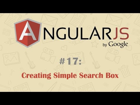 AngularJS Tutorial 17: Creating Simple Search Box