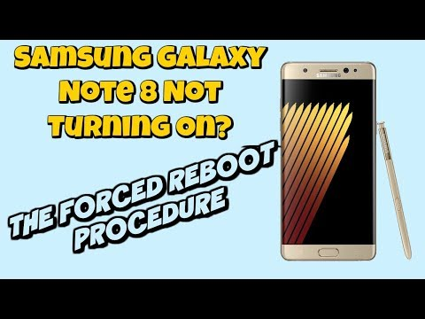 Samsung Galaxy Note 8 Not Turning On | Forced Reboot Procedure