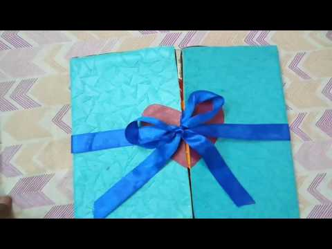 Simple. and cheap. Multi fold scrapbook card idea for mom dad anniversary | by Prashant Jaiswal