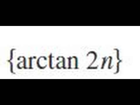 {arctan 2n} Determine whether the sequence converges or diverges. If it converges