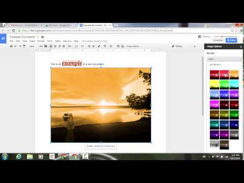 Adjust image color and filters in Google Docs