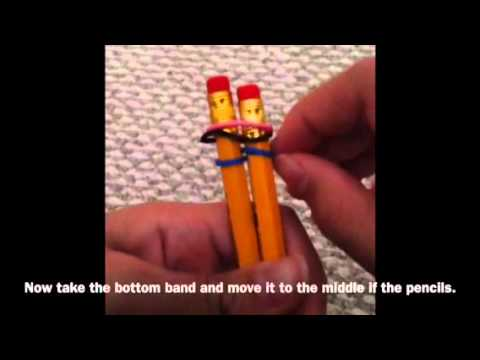 HOW TO MAKE FISHTAIL LOOM WITH PENCILS (BEGINNER)