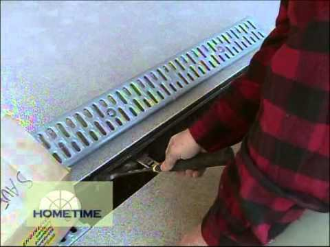 How to Finish a Garage Trench Drain