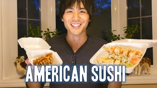 Jun tries American sushi!