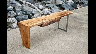 Modern Live Edge Waterfall Coffee Table Collaboration Part 2 | How-To