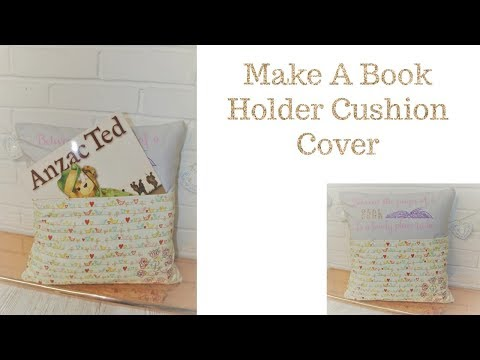 How to Make and Decorate a Book Holder Cushion Cover