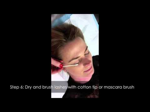 How to reverse or relax a lash lift or eyelash perm - straightening eyelashes treatment