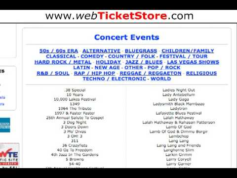 WebTicketStore - Tickets On Sale