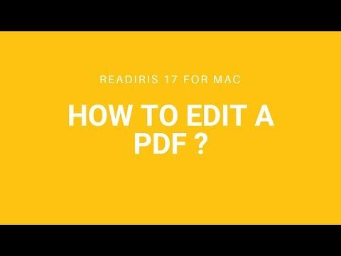 Readiris 17 Mac: Edit a PDF