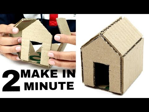 How to Make  A Cardboard House (With Dimensions)In 2 Minute