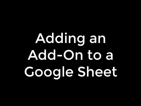 Adding an Add-on to Google Sheets