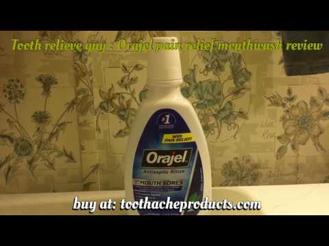 Orajel Pain Relief Mouthwash Antiseptic Rinse Review Canker Sores Dentures or Braces Kills Bacteria