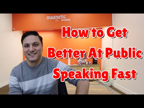 How to Get Better At Public Speaking Fast