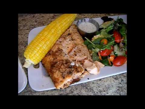 Breaded Salmon on the Grill - Gluten Free & Low Carb