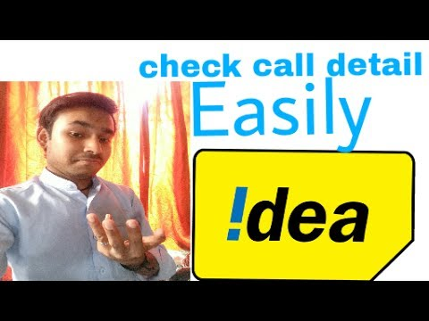 How check idea sim call details||Idea sim call & sms detail check easily||in hindi by technical gyan