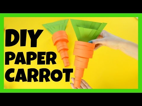 How to Make a Paper Carrot - paper craft idea