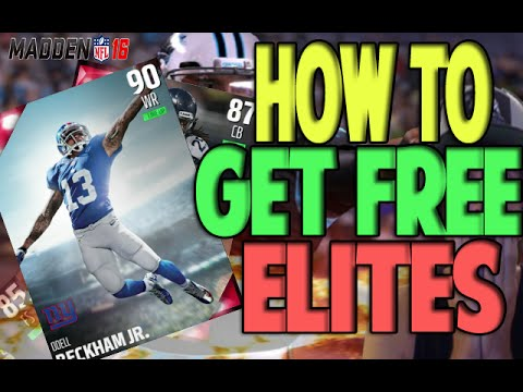 HOW TO EARN FREE ELITES IN MADDEN 16 ULTIMATE TEAM | 90 OVERALLS!!