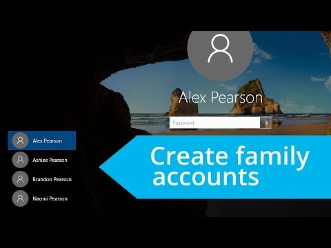 Windows 10: Add user accounts for family members