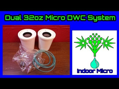 Indoor Micro Dual 32oz Grow Box Tent Micro DWC Hydroponic System