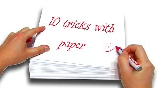 ✔ TOP 10+1 BEST Tricks With Paper