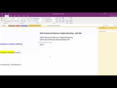 OneNote Calculations