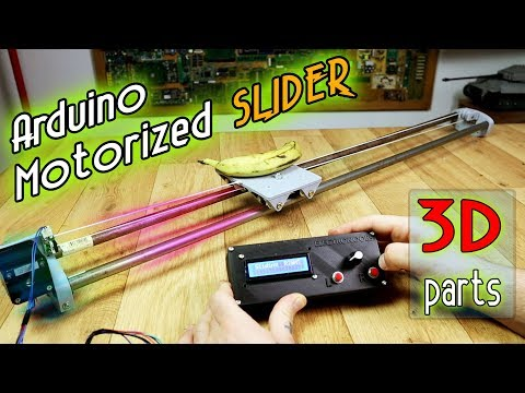 Step motor slider - Arduino and 3D printed body