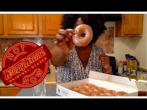 Krispy Kreme Mukbang | Today Only Pumpkin Spice Original Glazed Review | Eating Video