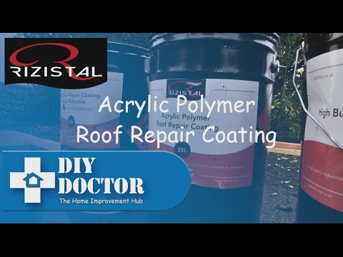 Flat and Felt roof repairs with Rizistal Acrylic Polymer Roof Repair Coating