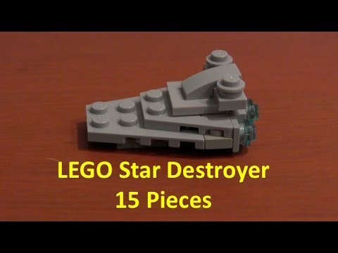 How To Build A LEGO Star Wars Mini Star Destroyer With 15 Pieces
