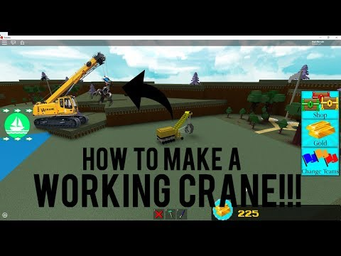 Roblox - Build a Boat for Treasure: HOW TO MAKE AN ADVANCED *WORKING CRANE*