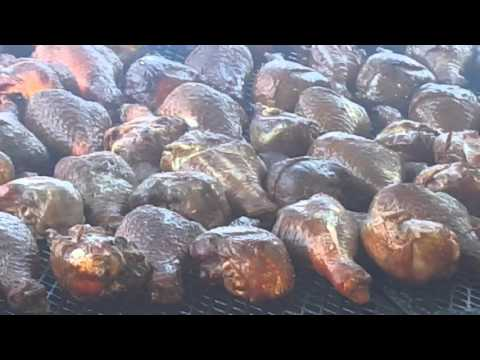 Giant smoke turkey legs at nc fair 2015
