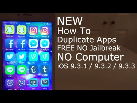 NEW How To Duplicate Apps FREE iOS 9 / 10 / 11 NO Jailbreak NO Computer iPhone, iPad & iPod Touch