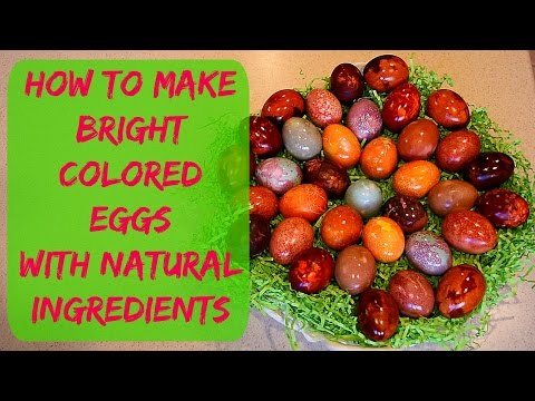 Coloring Eggs With Natural Dyes - How to Color Easter Eggs YouTube Video Tutorial