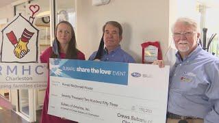 Ronald McDonald House receives donation from Crews Subaru