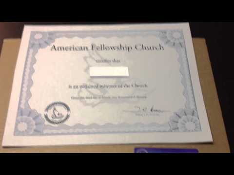 How to become an Ordained Minister online