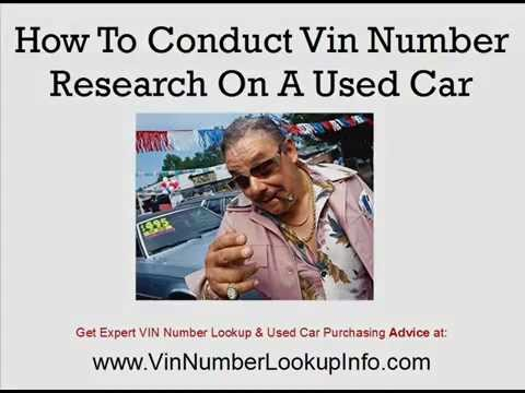 Vin Number Research How To Discover The History Of A Used Car! + stolen vehicle check