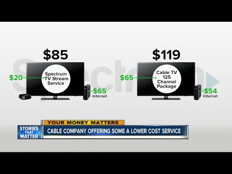 Cable company offers lower cost service