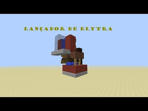 COMO FAZER UM LANÇADOR DE ELYTRA NO MINECRAFT PE 0.17.0
