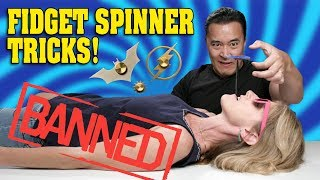 Download DANGEROUS FIDGET SPINNER TRICKS!!! Don't Try This at Home! 40 SPINNER GIVEAWAY! Video