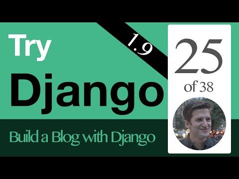 Try Django 1.9  - 25 of 38 - Setup Static Files  - CSS  & Javascript  & Images in Django