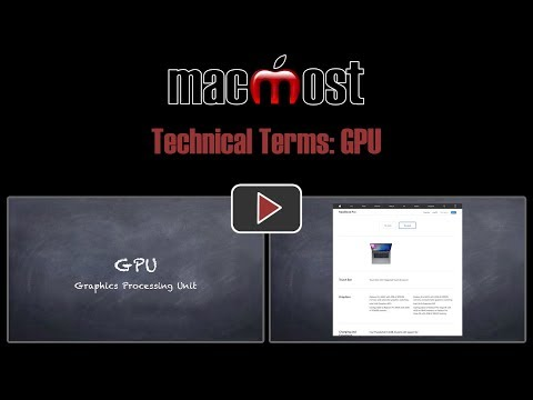 Technical Terms: GPU (MacMost #1810)