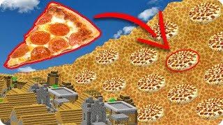 TSUNAMI DE PIZZA EN MINECRAFT   RETO DE LA BASE VS TSUNAMI EN MINECRAFT