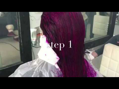 red violet metalic hair color