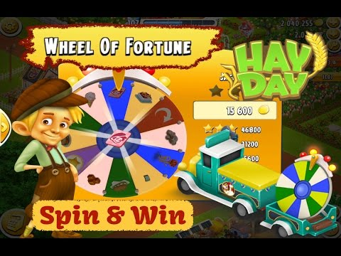 Hay Day - Spin and Win Boosters on the Wheel of Fortune