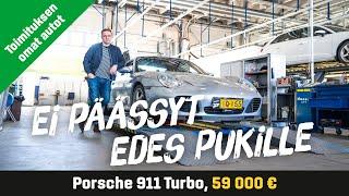 Käytetty: Porsche 911 Turbo (59 000€) - Ei päässyt edes pukille