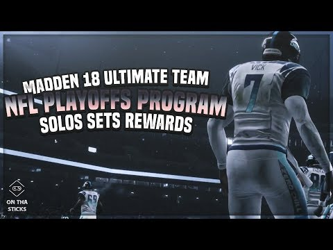 Madden 18 Ultimate Team NFL Playoffs Solos Sets Rewards #MUT - Elite Fantasy Playoffs Pack Opening