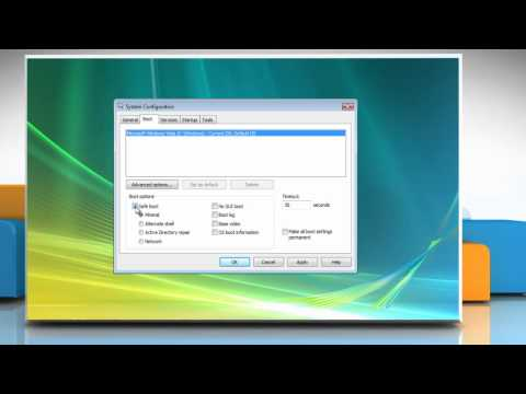 Windows® Vista: Start in Safe Mode using msconfig